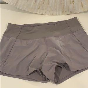 Purple/grey lululemon shorts